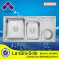 ls9848bl lavelliin acciaioinox dettaglio la descrizione lavello della cucina lavabo