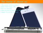 Mobile LCD touch screen and digitizer replacement parts for iphone 4s iphone 4 lcd