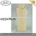 custom atacado tall corda de papel jóias busto de manequim para colar jóias loja de decoração
