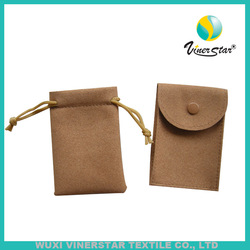 high quality microfiber pouch faux suede jewellery pouch leather jewelry bag with drawstring