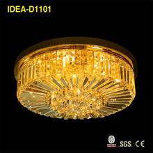 saloon halogen large crystal ceiling lamp for hotel