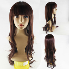 Soft Degree Hair 2014 sexy fashion Long wave lady's kankekare synthetic hair lace wig