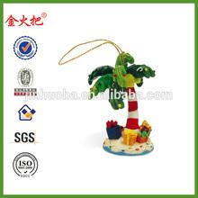 Promotional Resin custom made christmas ornaments