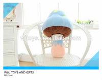 custom stuffed cute mushroom plush pet toy for promotion