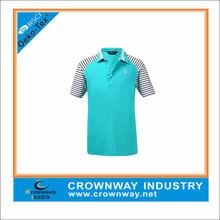Plain Polyester/Spandex Branded Men Golf Polo T-shirt