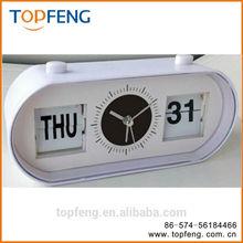 Flip-Date Retro Alarm Clock With Calendar/date table clock/table alarm clock