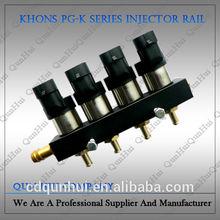Coches de alto grado de 4 cilindros 12 V lpg / gnc rampa de inyección del inyector del carril