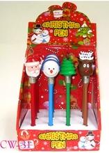Novelty design ballpoint pen for christmas promotion