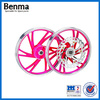 Factory direct sell colored chrome motorcycle wheel rims with high quality
