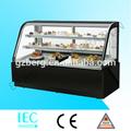 Temperatura normal de bolo de vitrine/curvo vidro display cake armário/padaria equipamento de refrigeração
