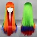 prezzo a buon mercato nuovo stile di modo multi colore lungo rettilineo 75 centimetri festa di carnevale parrucca cosplay ingrosso resistente al calore dei capelli