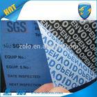 Shenzhen anti fake security void sticker, qc passed sticker