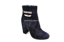 Fashion lady high heels dark blue design ankle fetish boots