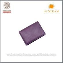 Purple Color Two-fold Fashion Genuine Leather Wallets In Dubai