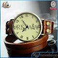 el mejor regalo festival de cuero de las señoras de largo material de cuarzo correa de reloj antiguo