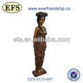 Nouveau produit 2014 gracieux petites statue en bois sculpté à la main( efs- ycy- 097)