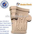 Clásico exterior casa antigua decoración para el hogar decoración tallada a mano de madera de capital( efs- wp- 01)