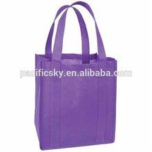 2014 Hot sell Cheap purple Portable non woven shopping bag