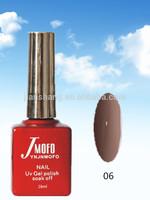 Manufacture of Jian Shang UV nail gel polish soak off; Shallow brown red color Jmofo brand