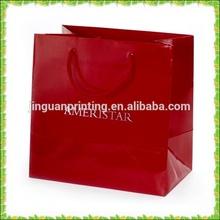 luxury retail custom logo red paper shopping bag & garment bag