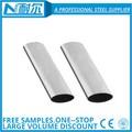 En acier inoxydable ovale tube