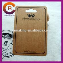 Black logo printed custom Kraft brown paper bobby pin cards