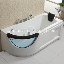 angle Acrylic whirlpool massage bathtub with glass Q307N