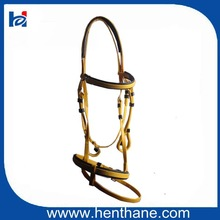 Hot Sell Comfortable Two Noseband Horse Bridle for Horse Racing
