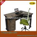 Nueva venta caliente en forma de l moderno estilo de la moda de melamina escritorio de oficina/mesa