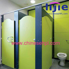 Hot! Wood grain HPL public toilet partitionsolid decorative cubicle toilet partition