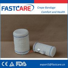 New Medical elástica crepe ataduras rolo com CE FDA