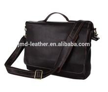 100% Genuine Cow Leather Men's Briefcases Handbag Shoulder Bag For Laptop # 7108Q