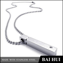 Wholesale Stainless Steel Silver Plain Pendant Necklace