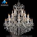 21 luzes de prata grande lustre tall candelabros de luz