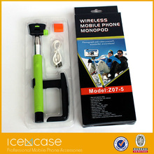 Extendable hand hold selfie stick for camera mobile phone monopod wireless