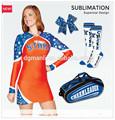 2014 nueva oferta caliente uniformes de porristas personalizado hecho su propio diseño de vestido de animadoras
