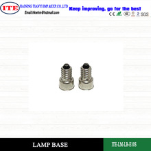 brass nickel plated lamp cap E10S with ROHS certifiction