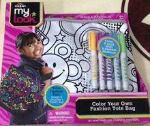 CraZArt My Look Color Your Own Fashion Tote Bag