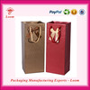 Ecofriendly Corrugated Wine Carriers wine bag for sale new arrival paper carrier bag for wine