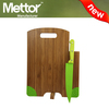 Mettor best selling silicone chopping board with knife, chopping board with holes