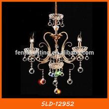 Vogue gold crystal chandelier for bedroom with candle holder SLD-12952
