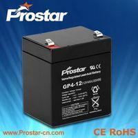 High Capacity Solar Recycling Lead Acid UPS Batteries 12V 4AH