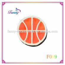 F089 Wholesale Fashion High Quality floating charms lockets wholesale ,Basketball Floating Charm