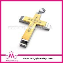 wholesale golden Christian fashion men cross pendant