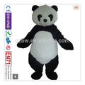 2014 venta caliente buena china diseño de oso panda de piel de la mascota de vestuario para adultos
