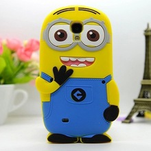 Hot selling minion 3d silicone case for samsung galaxy s4