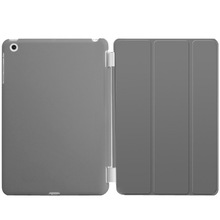 2015 Ultra Thin Magnetic grey Smart Case Cover + Back Case For iPad mini