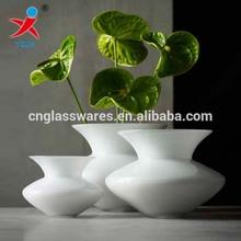 Opal white glass Vase