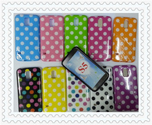 Fashion Pink Polka Dot Soft Silicon Phone Cover Case For Samsung Galaxy S5 i9600 SV G900 Cases Accessories