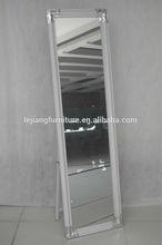 modern woodenl frame stand light mirror sticker